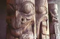 ******** Weathered Totem Poles. Weathered Haida totem poles taken from the Queen Charlotte Islands on display at the UBC Museum of Anthropology in Vancouver BC Canada