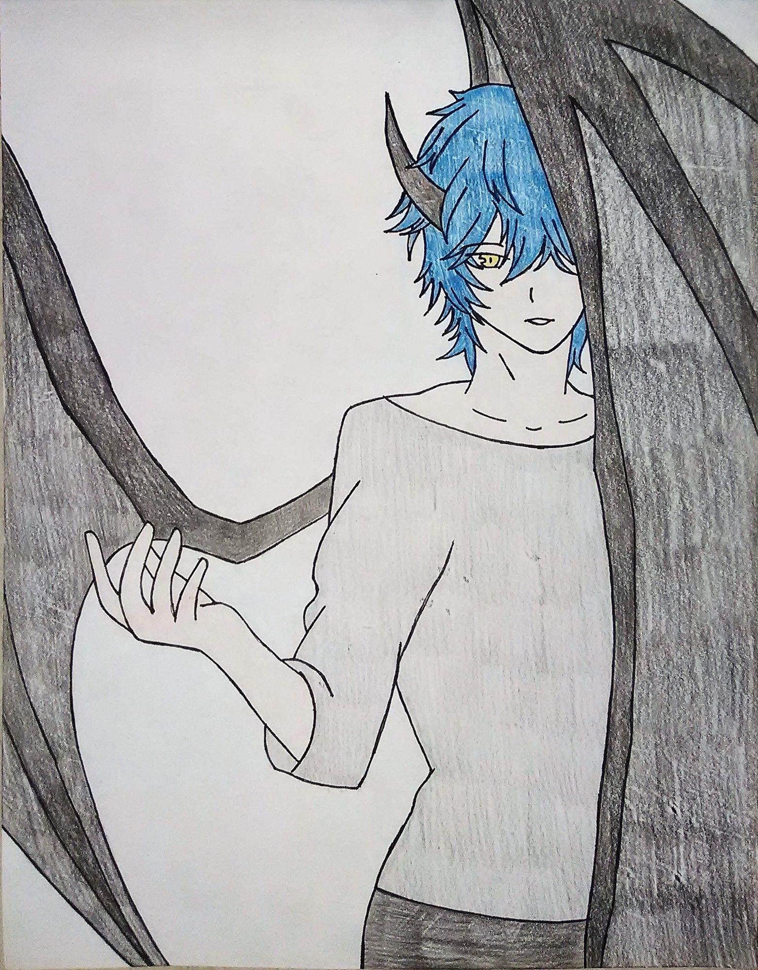 Anime Devil Boy Drawing
