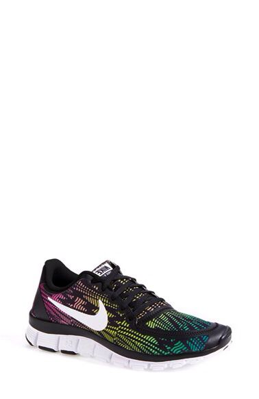 8da9484b6ec76 Women s Nike  Free 5.0 V4  Running Shoe (Black Magenta Red White ...