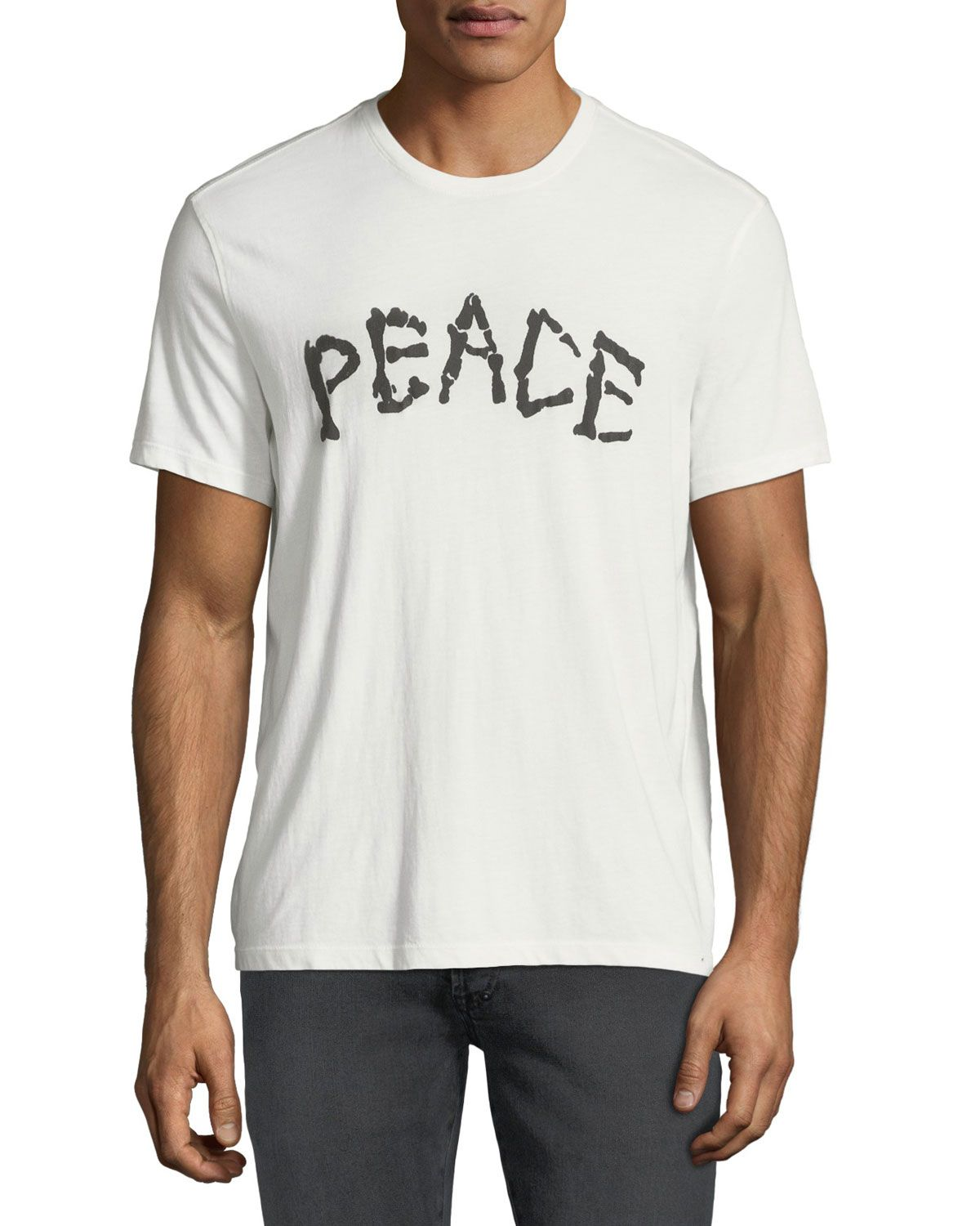 0d41622a JOHN VARVATOS MEN'S SKELETON PEACE GRAPHIC T-SHIRT. #johnvarvatos #cloth