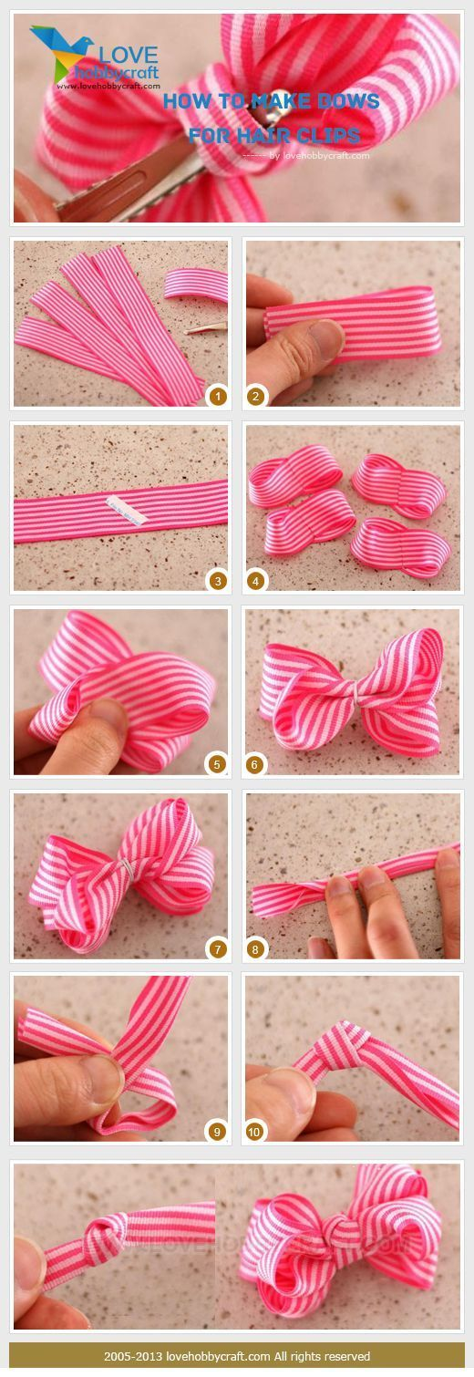 how-to-make-bows-for-hair-clips DIY, Do It Yourself,