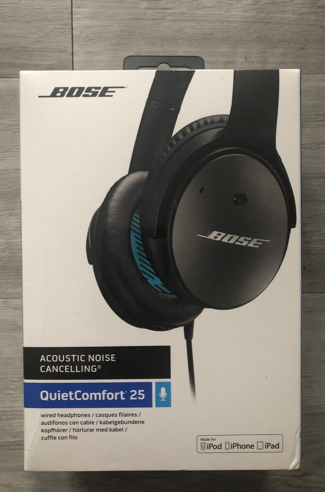 32d0537a343 Bose QuietComfort 25 Headphones for Apple. Brand new never opened. Wired.
