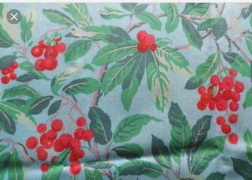 ≥ Laura Ashley Gordijnstof Chintz Vintage Blueberry chintz ...