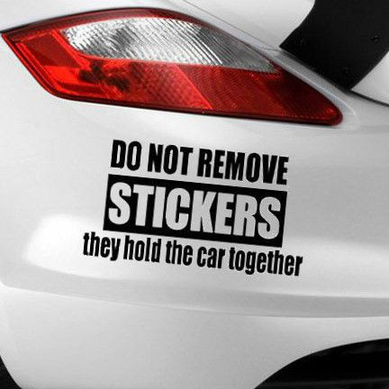 Do Not Remove Funny Novelty Car Window Bumper JDM VW EURO Vinyl - Custom vinyl decals for cars   removal options