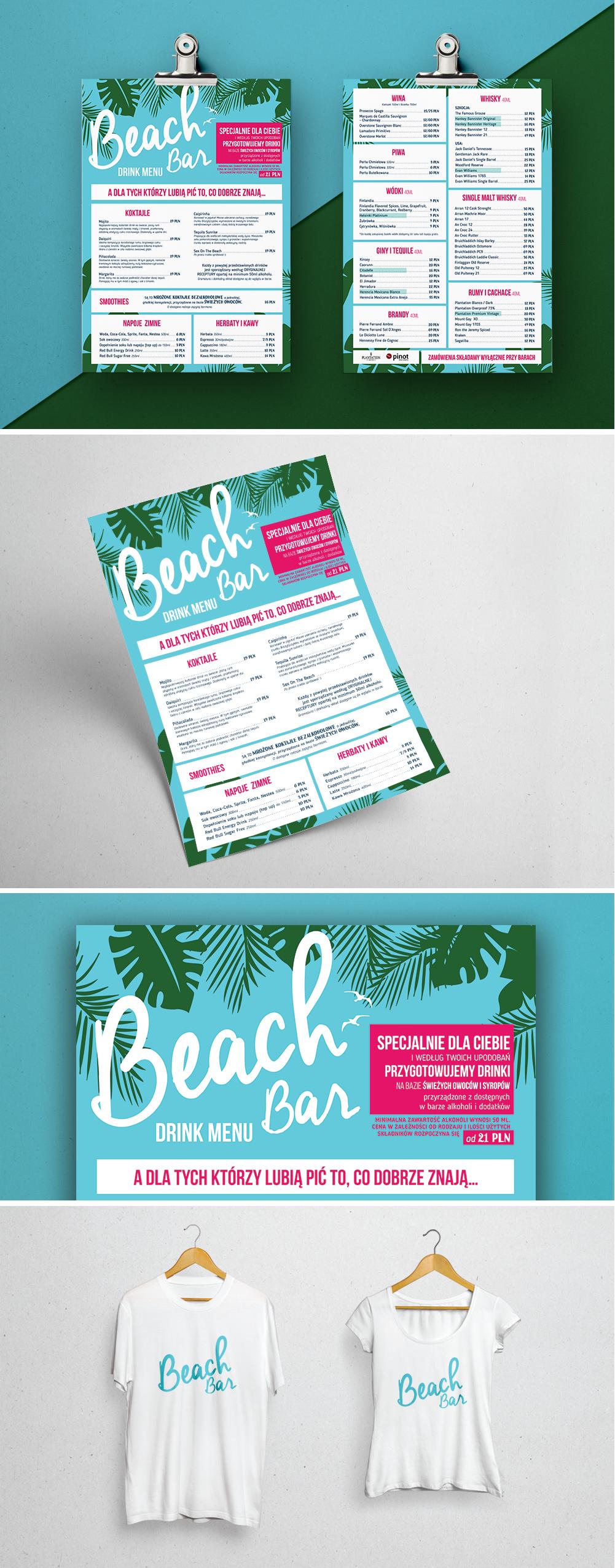 Drink Menu Dla Beach Bar Manufaktura