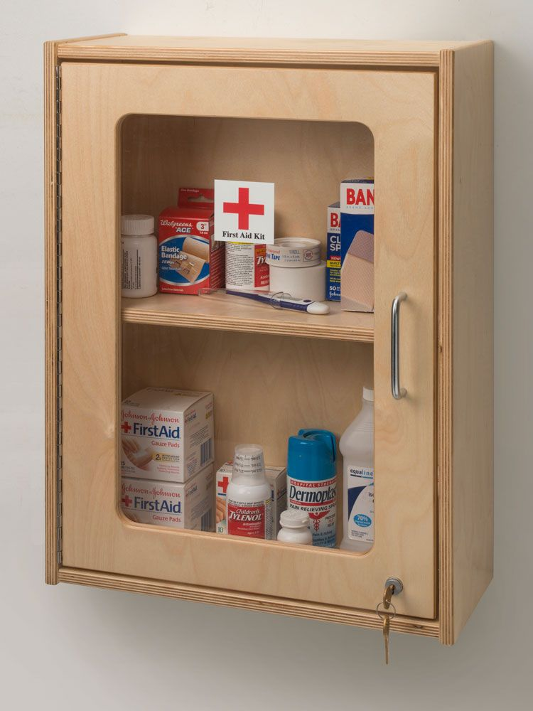Keep first aid necessities and medications behind lock and key at a ...