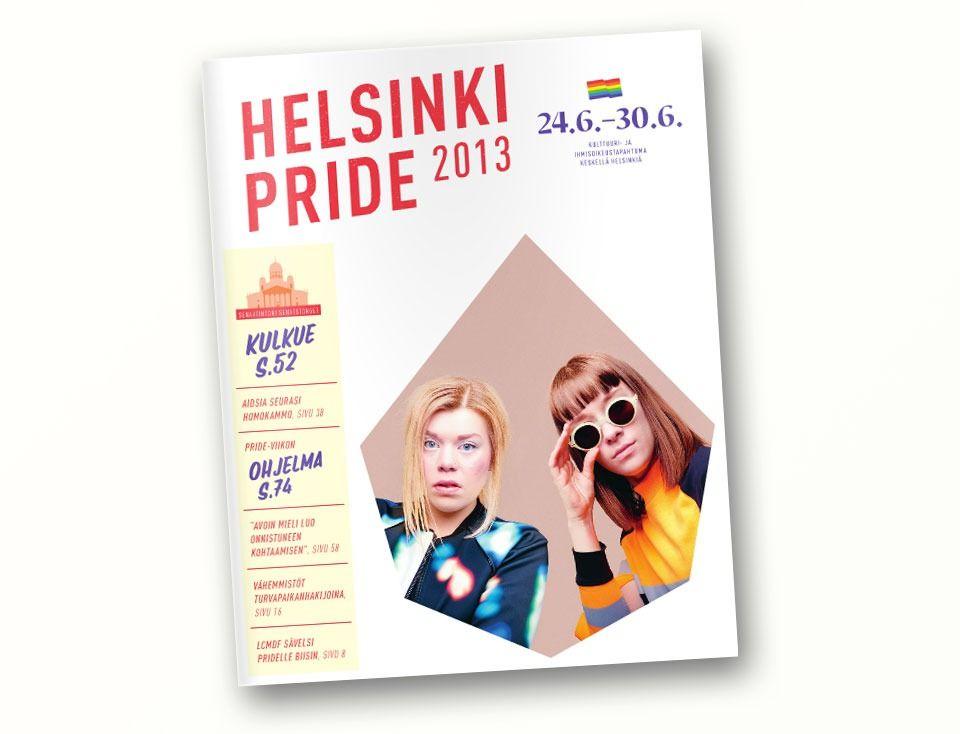 Vuoden 2013 helsinki pride- lehti näytti tältä. Tänä vuonna onkin sitten uudet kujeet!