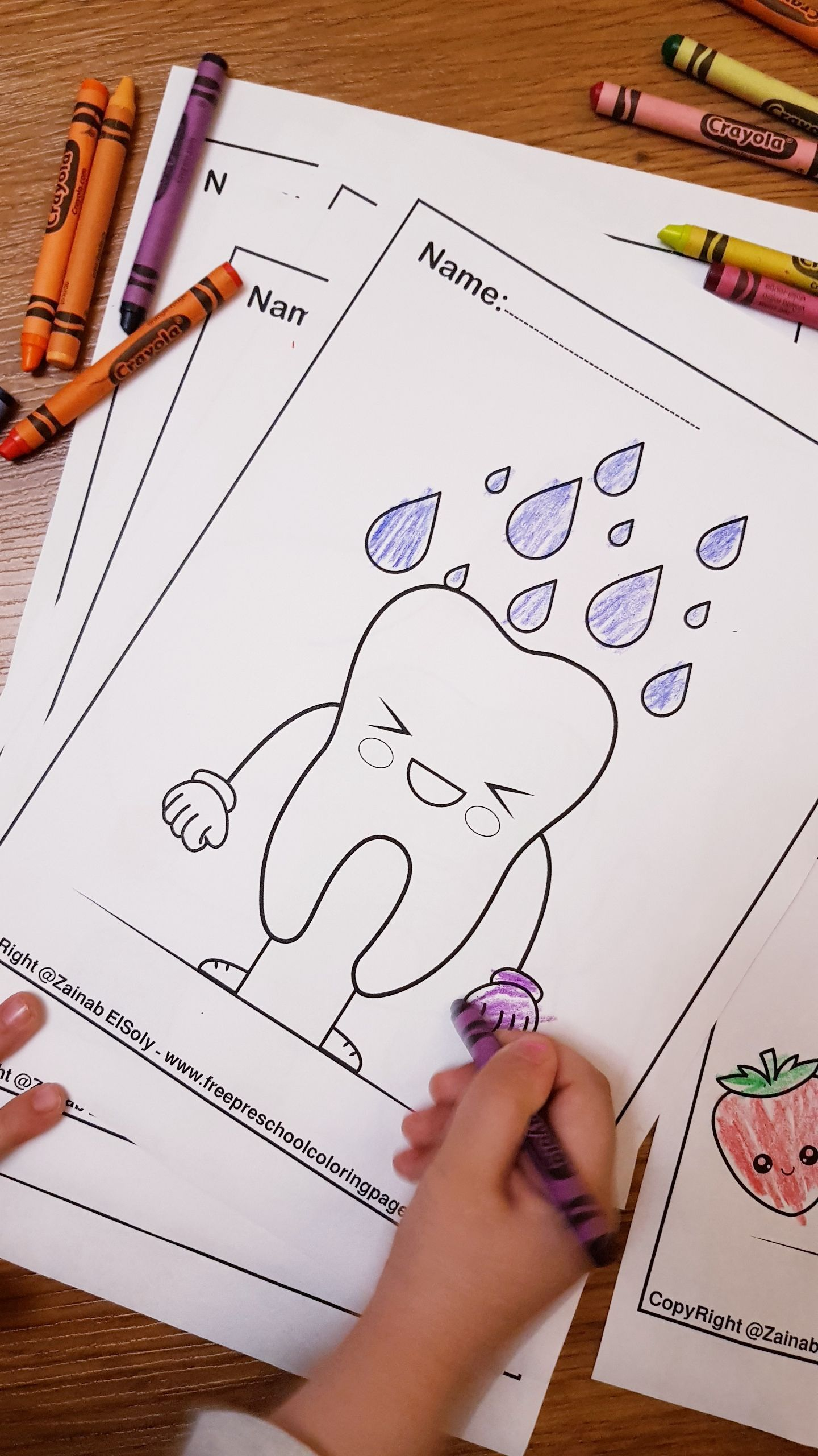 Free Dental Care Cute Kawaii Coloring Pages For Kids