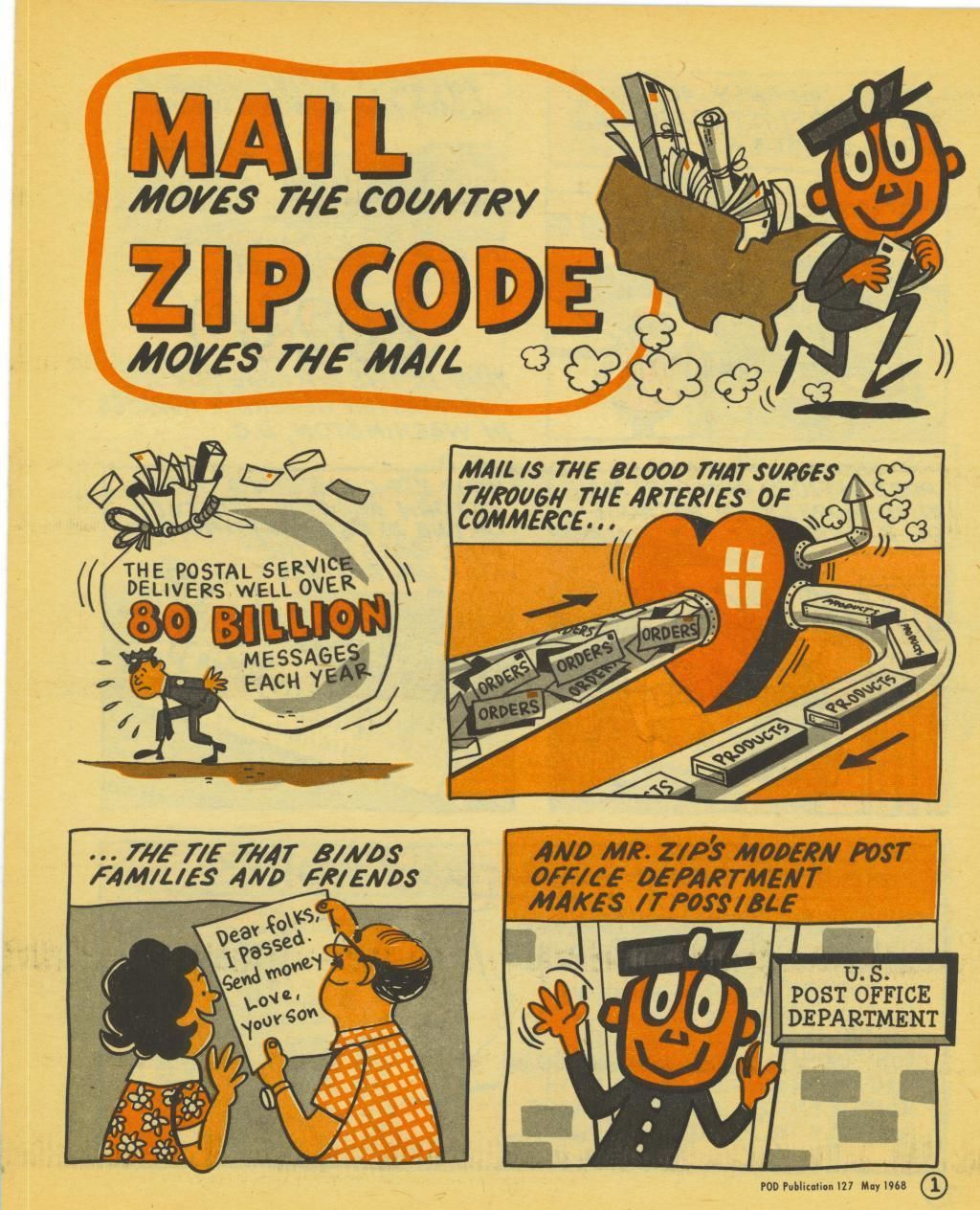 MAIL MR. ZIP AD Fun mail, Graphic design collection