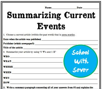 Current Events Worksheet Answers - Nidecmege  Current Events Worksheet Pdf