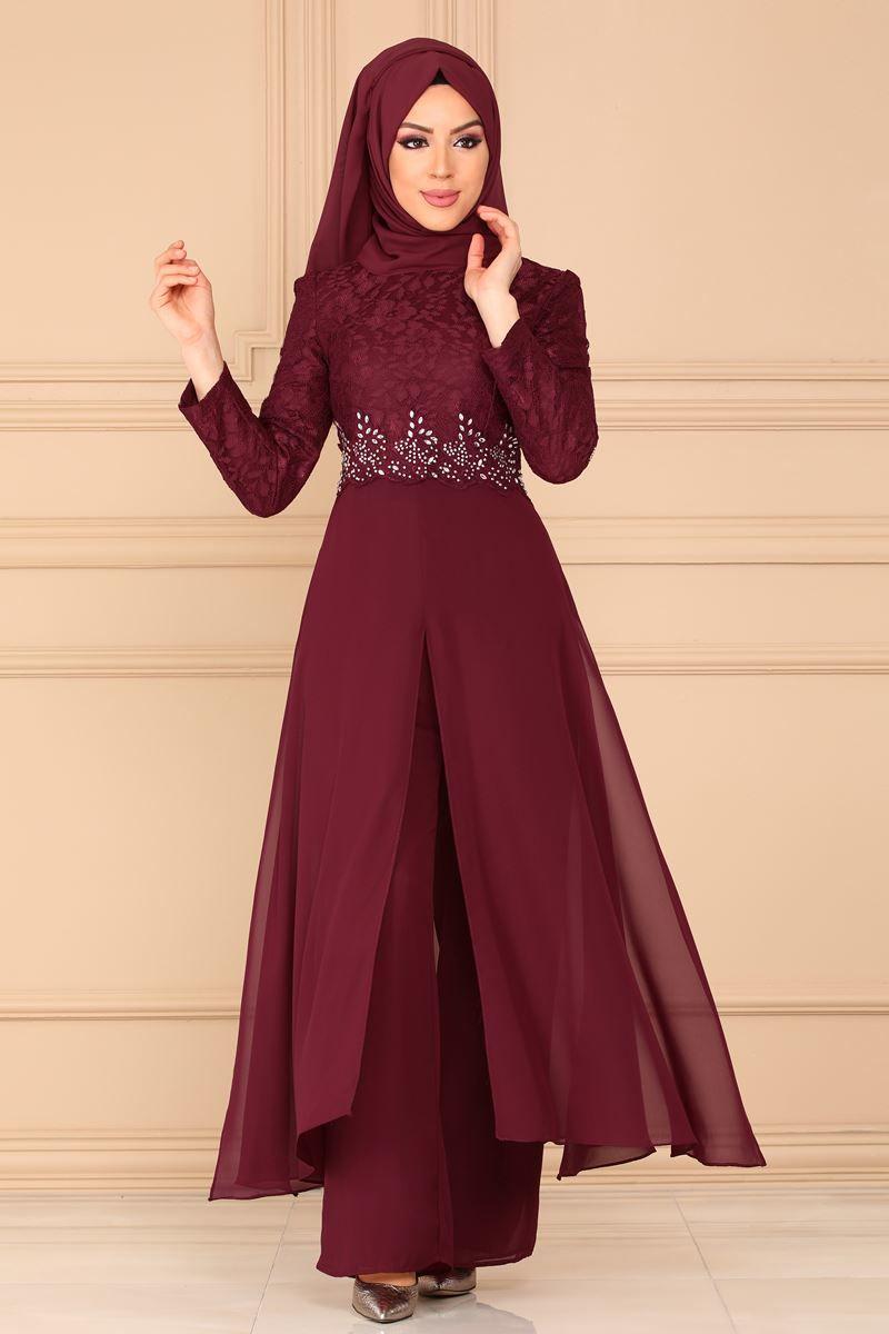 Modaselvim Kombin Beli Tasli Abiye Kombin 8782w153 Bordo Fashion Dresses Insta Fashion