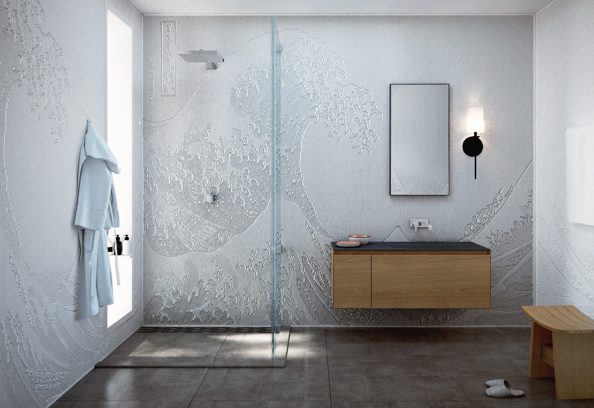 Pin By Mario Romano On Interior Space Corian Shower Walls Corian Wall Panels