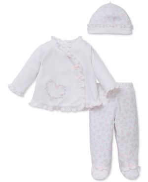 ff076807f11f Little Me Baby Girls  3-Pc. Floral-Print Hat