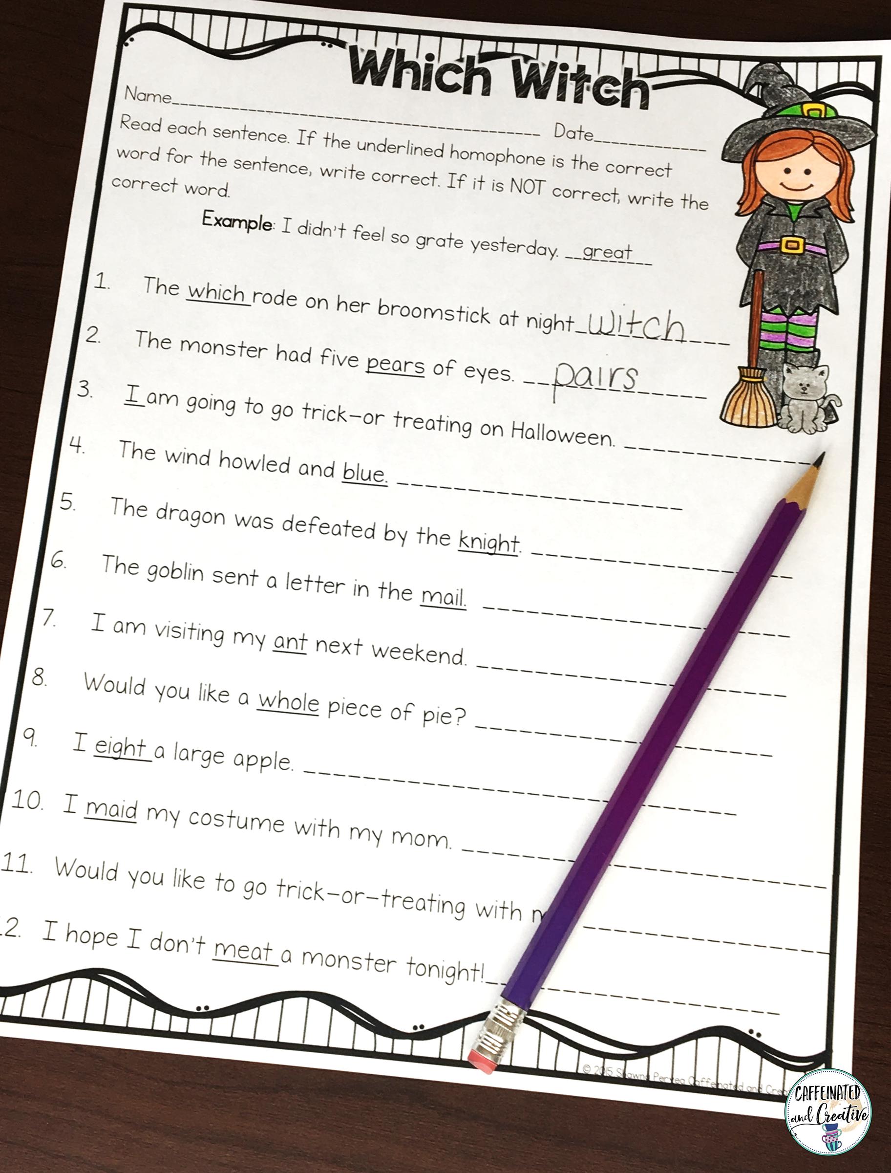 Halloween Literacy And Math Activities No Prep Second