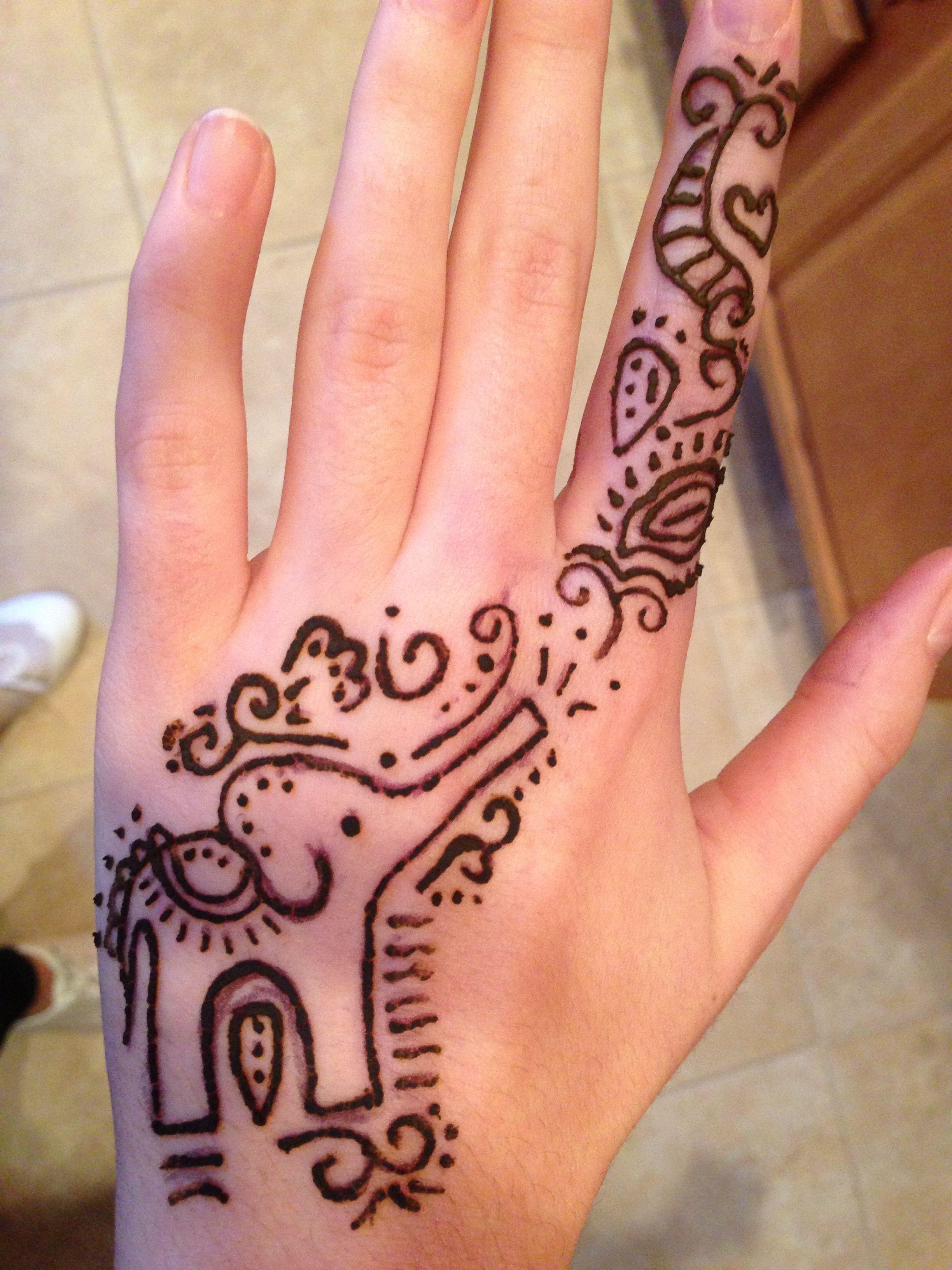Elephant Henna Inspiration Henna Henna Designs Mehndi