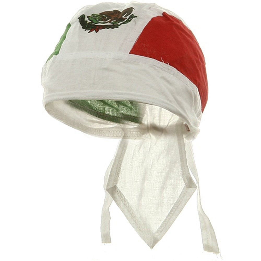 mexican flag doo rag mexico green white and red head wrap camo