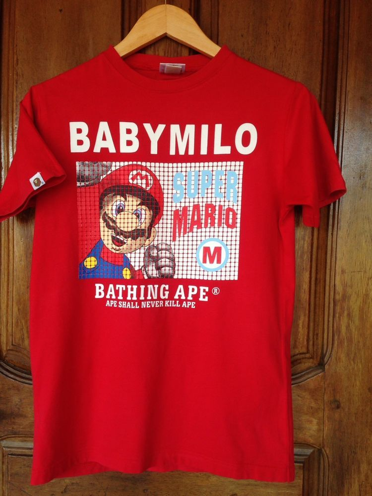 627d930d A Bathing Ape x Super Mario x Baby Milo #fashion #clothing #shoes  #accessories #mensclothing #shirts (ebay link)