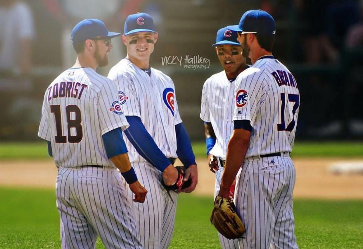 All Star Infield Chicago Cubs Chicagocubsbaseball Chicago Cubs Baseball Chicago Cubs World Series Mlb Chicago Cubs