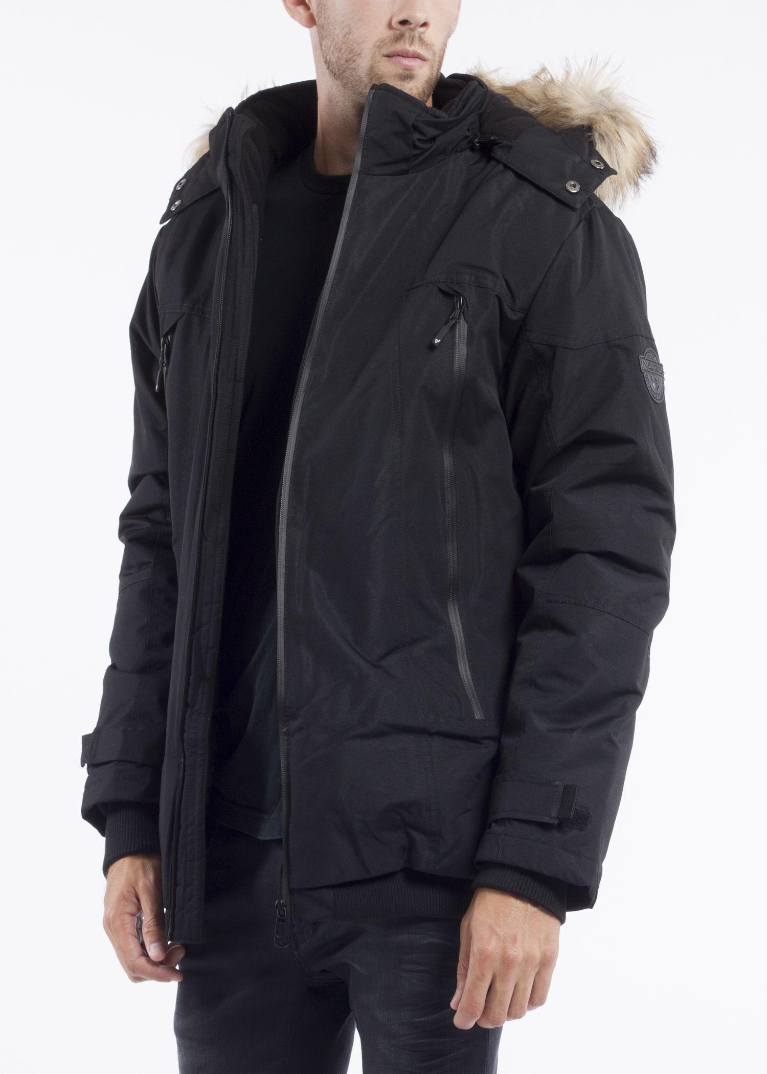 Noize Men Brad Black Winter Jackets Canada Goose Jackets Bomber Jacket [ 2100 x 1500 Pixel ]