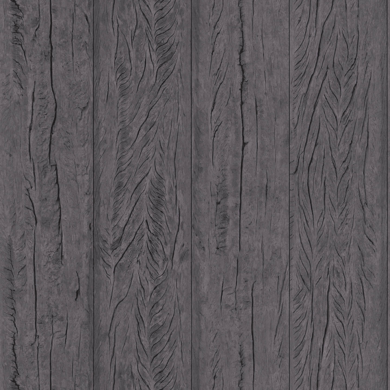Papier peint intissé Material bois gris foncé