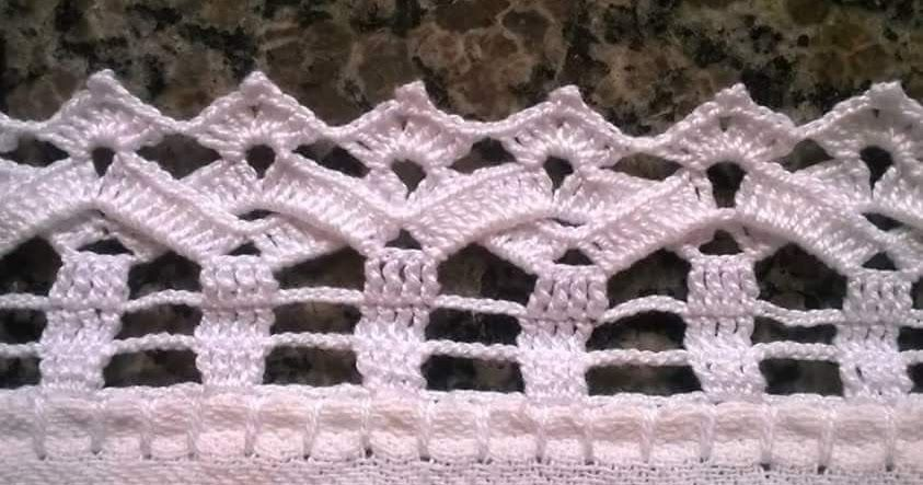 Barrados Com Graficos Com Imagens Bicos De Croche Simples