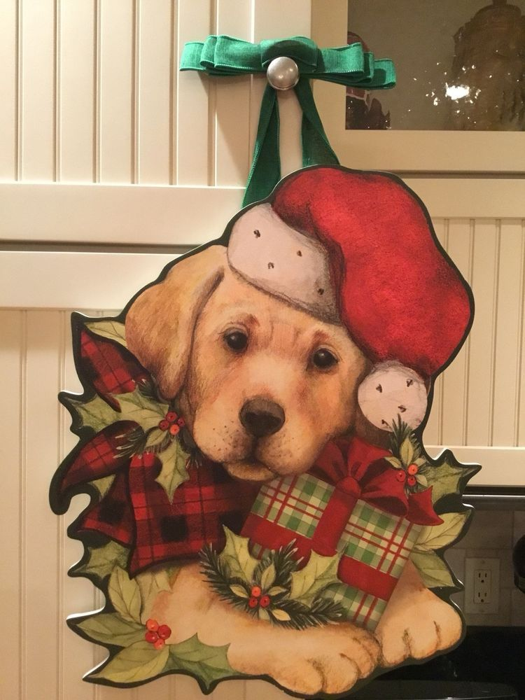 Puppy love Christmas Door Decor By Christmas