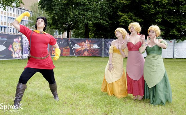 """(Awesome) Beauty and the Beast """"Gaston"""" group cosplay, AnimagiC 2012"""