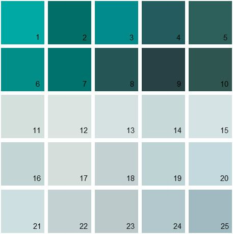 benjamin moore blue house paint colors - palette 07. can see all