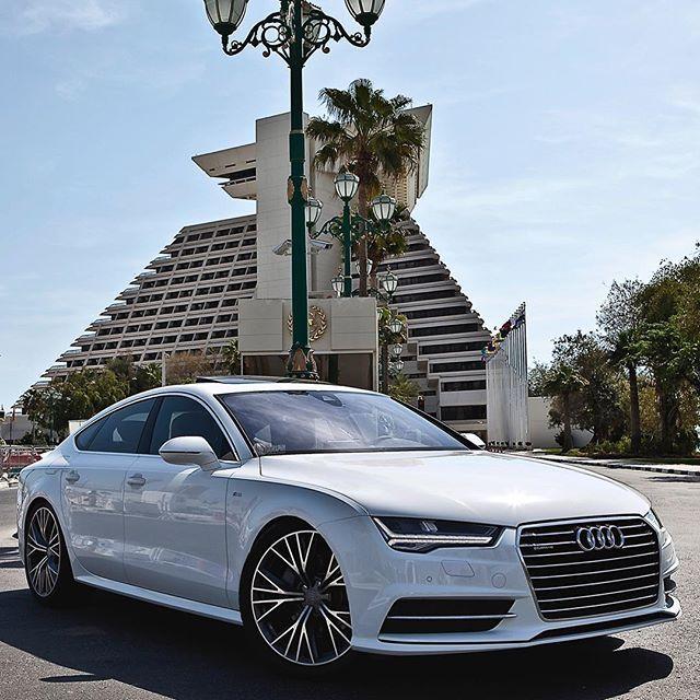 Creative Automotive Design Among Creative Architecture. Car: 2016 Audi A7  3.0TFSI Quattro S
