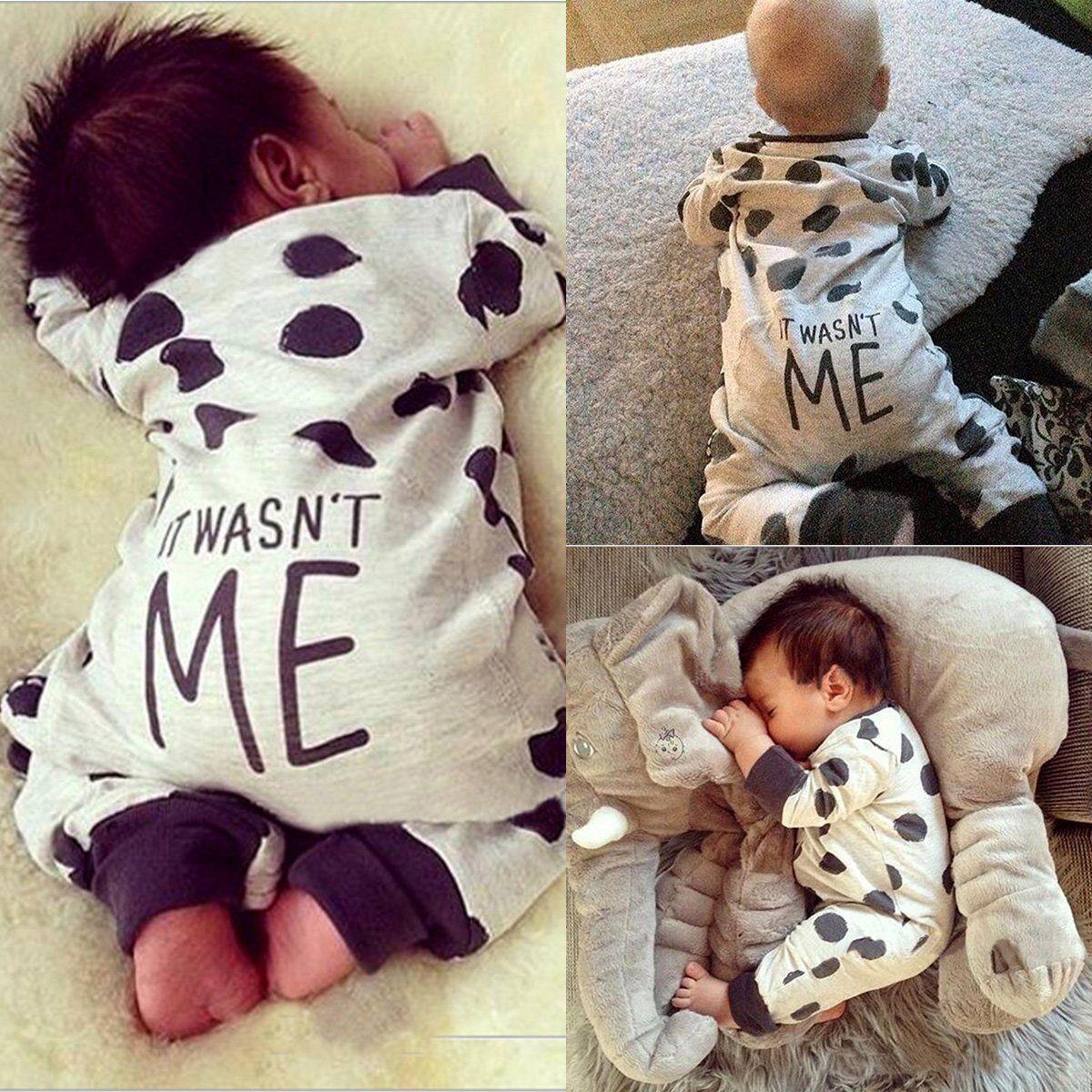 5f974e8dc Newborn Kids Baby Boys Girls Infant Romper Jumpsuit Bodysuit Clothes ...