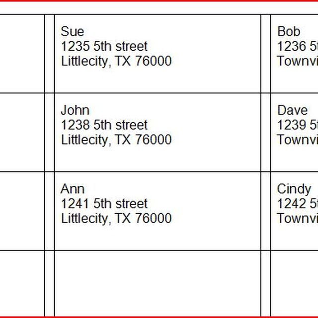 How To Make Address Labels Using An Excel Spreadsheet
