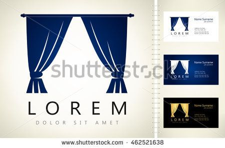 Curtains vector design with business card template editable curtains vector design with business card template editable reheart Choice Image