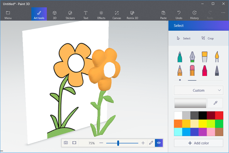 Convert A 2d Drawing Into 3d Art With Microsoft S Paint 3d Program Microsoft Paint Paint Program Drawings