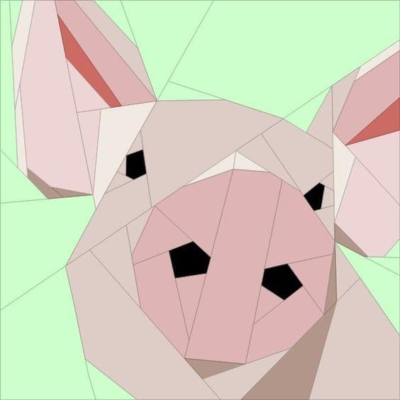 Piggy Bitty Block - Free Quilt Block Pattern | Patchwork, Tier und Küche