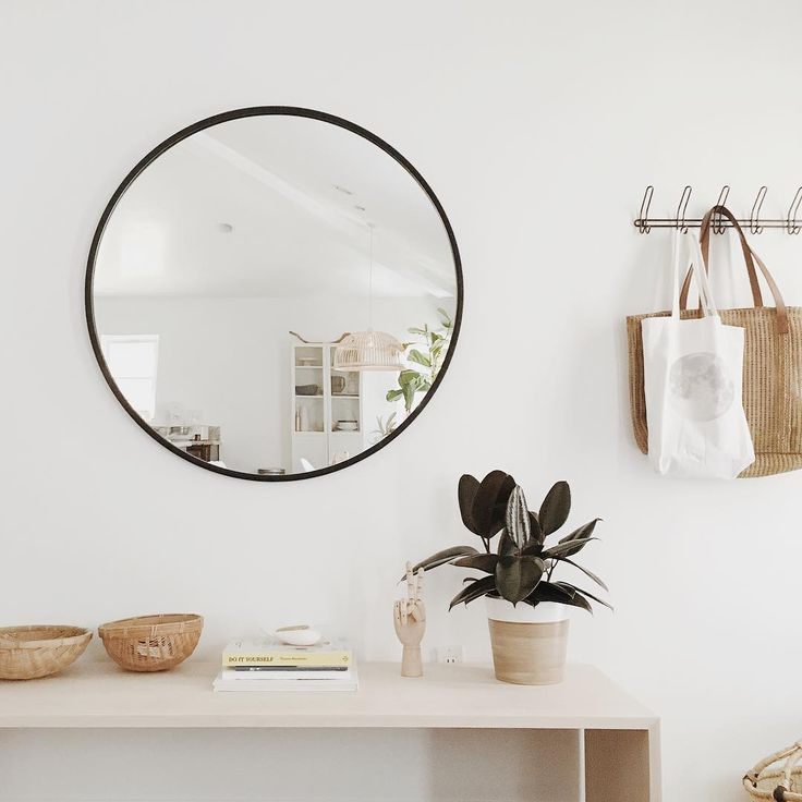 hub mirror black assorted sizes harriman co in 2020 on ideas for decorating entryway contemporary wall mirrors id=57266