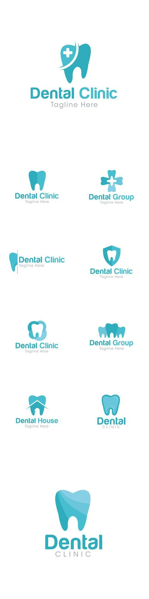 dental care logo design branding identity dental clinic