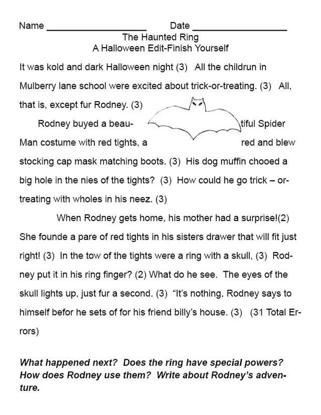Easy And Fun Halloween Lesson Plan Idea Story Starters Essay