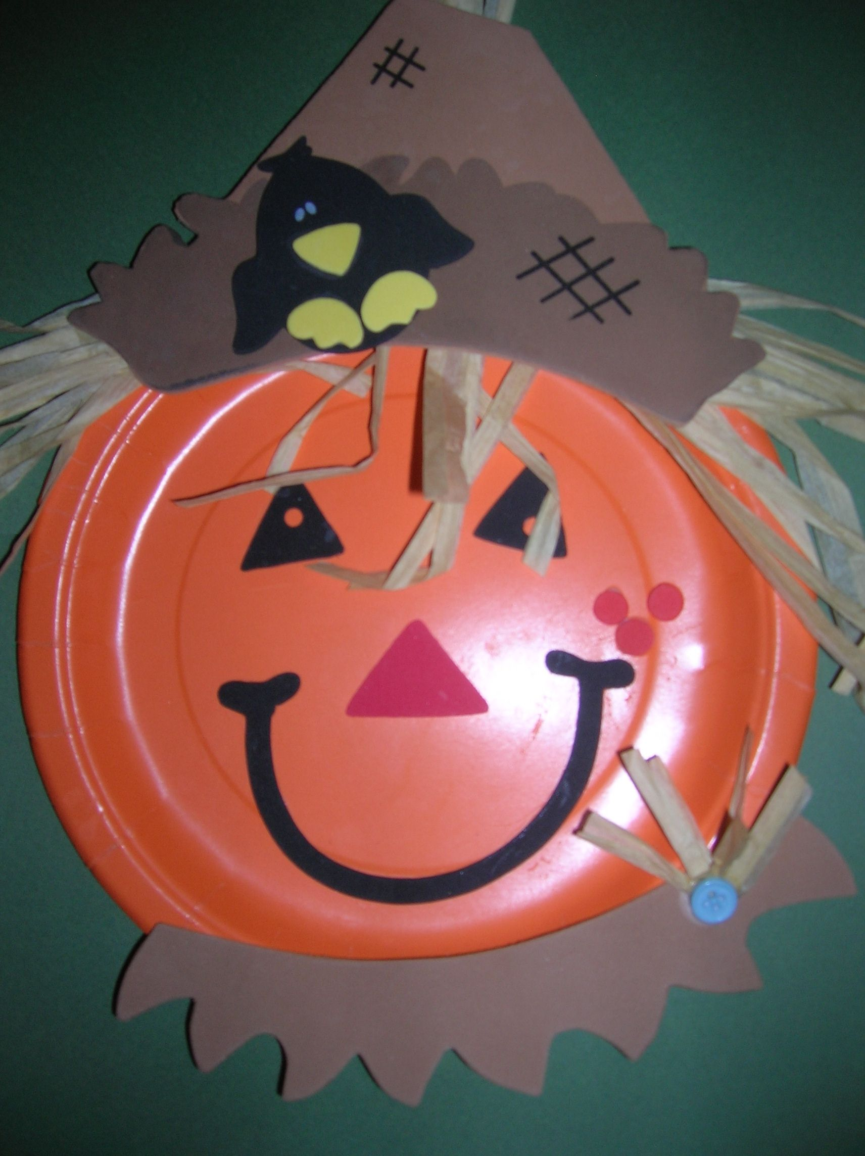 Paper Plate Pumpkin Scarecrow & Paper Plate Pumpkin Scarecrow | Google images Crafts and Scarecrows