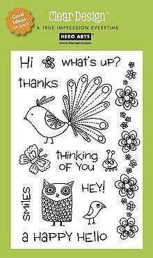 Hero Arts - Clear Design Stamp Set - Happy Hello - TwoPeasinaBucket.com 14.99