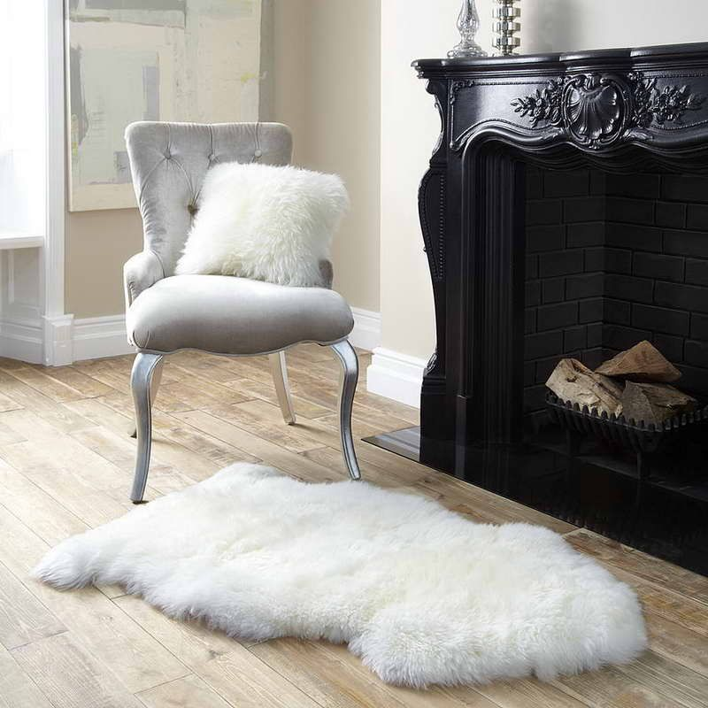 IKEA Sheepskin Rugs With Fur Pillows