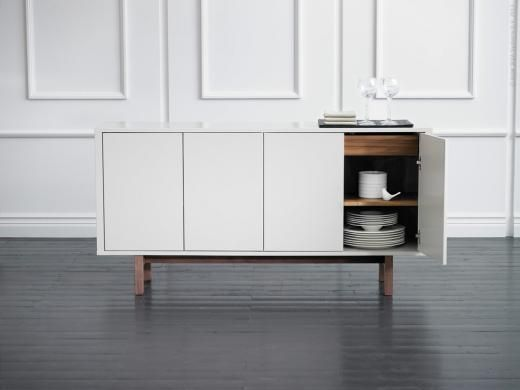 Ikea Walnut Credenza : Ikea stockholm sideboard for stashing dish dinnerware