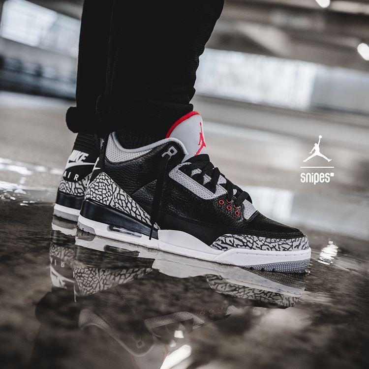Air Jordan 3 OG Black Cement - Grailify Sneaker Releases   Clarks ...