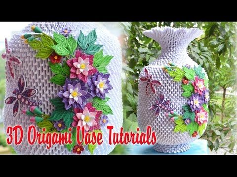 34 how to make 3d origami vase v3 part 1 diy paper vase v3 34 how to make 3d origami vase v3 part 1 diy paper vase v3 handmade decoration part 1 youtube mightylinksfo