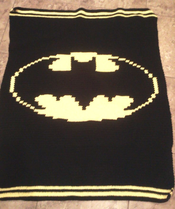 Batman Crochet Blanket Pattern Free My Own Project Batman Crochet