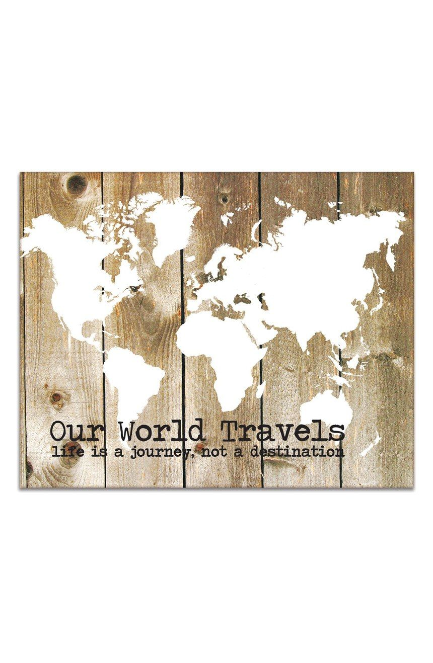 Our world travelsu canvas wall art living spaces canvases and spaces