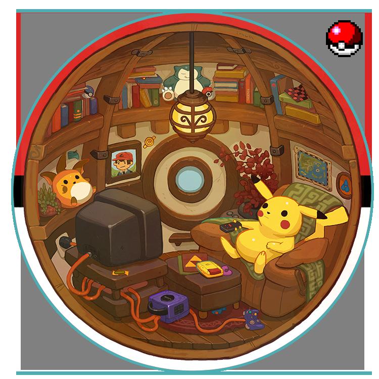 Cozy Pokeball Interior By Nerd Scribbles On Deviantart Pokemon Pokemon Pictures Pokemon Ball