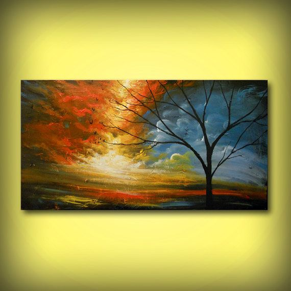 24 x 48 inch art painting original painting Mattsart by mattsart ...