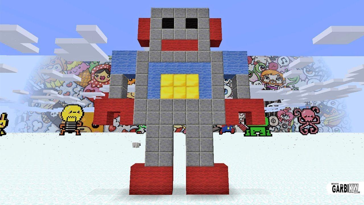 Minecraft Pixel Art How To Make A Robot Pixel Art Minecraft Pixel Art Art
