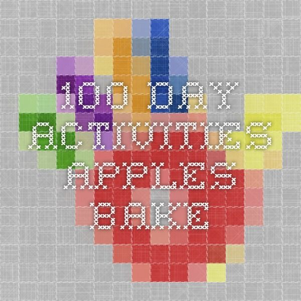 100 Day Activities Apples Bake