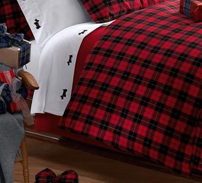 Wallace Plaid Flannel Duvet Cover, Highland